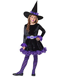 Kids Purple Shredded Witch Costume