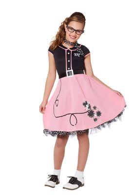 Poodle Skirts | Poodle Skirt Costumes, Patterns Kids Sock Hop Sweetie Costume by Spirit Halloween $39.99 AT vintagedancer.com