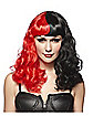 Black and Red Twisted Curls Wig