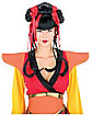 Geisha Black and Red Couture Wig