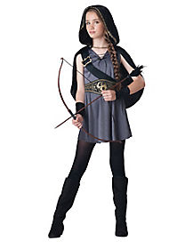 Kids Hooded Huntress Costume