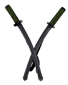 Green Double Ninja Sword