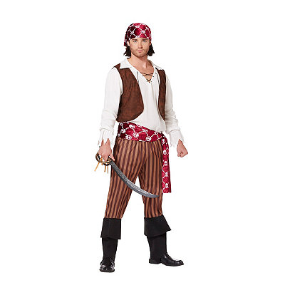 adult cut throat pirate costume adult shipwreck pirate costume