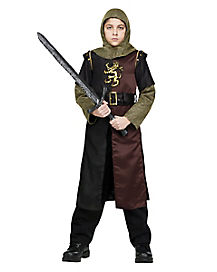 Boys Child Deluxe Two-Tone Roman Warrior Valiant Knight Costume Outfit