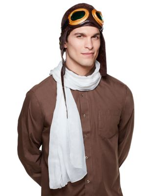 1930s Men's Clothing Brown Aviator Hat by Spirit Halloween $9.99 AT vintagedancer.com
