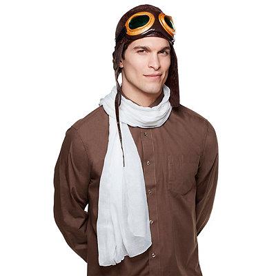 Roaring 20s Costumes- Cheap Flapper Dresses, Gangster Costumes Brown Aviator Hat $9.99 AT vintagedancer.com