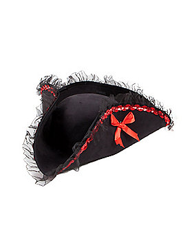Black and Red Pirate Hat