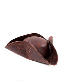 Brown Distressed Pirate Hat