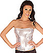 Silver Sequin Adult Corset