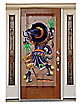 Crashing Witch Door Cover - Decorations