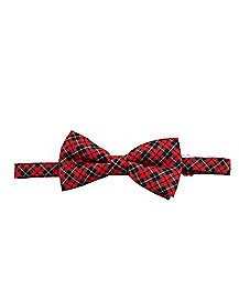 red and black plaid bow tie - Spirits Halloween Alexandria La