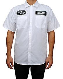 Adult County Coroner Work Shirt Costume