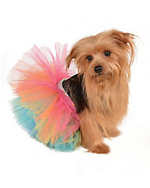 Rainbow Tutu Dog Costume