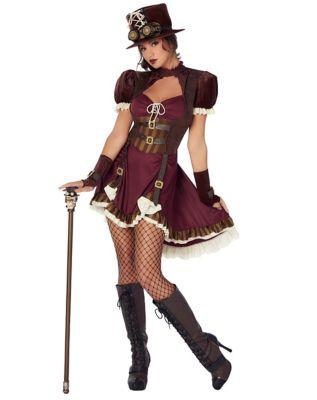 Steampunk Dresses | Women & Girl Costumes Adult Steampunk Dress Costume $59.99 AT vintagedancer.com
