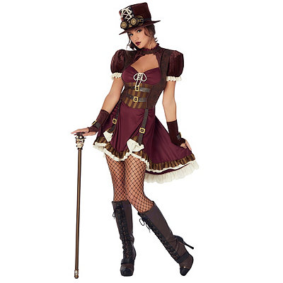 Victorian Steampunk Clothing & Costumes for Ladies Adult Steampunk Dress Costume $59.99 AT vintagedancer.com