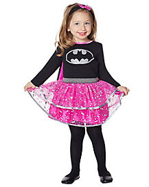 Toddler Black and Pink Batgirl Costume - DC Comics