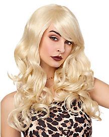 Blonde Sideswept Bombshell Wig
