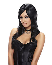 Sultry Black Wig - Deluxe