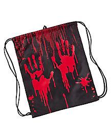 Black Blood Drip Cinch Bag