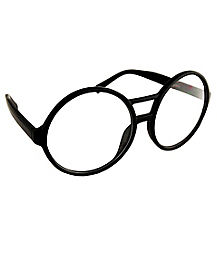 Black Round School Nerd Glasses