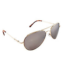 Gold Metal Aviator Sunglasses