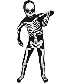 Kids Skeleton Skin Suit Costume