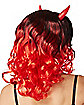Black and Red Curly Devil Wig