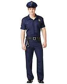 Adult Police Officer Costume - Deluxe
