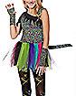 Kids Wild Rainbow Cat Costume