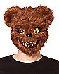 Brown Scary Teddy Bear Half Mask