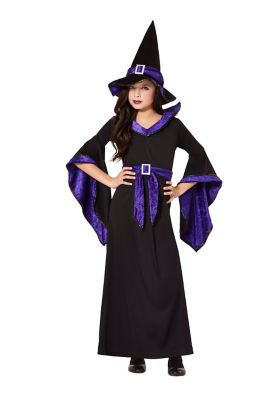 Victorian Kids Costumes & Shoes- Girls, Boys, Baby, Toddler Kids Spellcasting Witch Costume by Spirit Halloween $26.99 AT vintagedancer.com