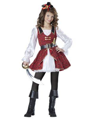 Steampunk Kids Costumes | Girl, Boy, Baby, Toddler Kids Captain Cutie Pirate Costume by Spirit Halloween $39.99 AT vintagedancer.com