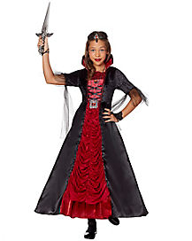 kids long victorian vampiress costume