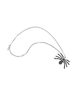 Black Rhinestone Spider Necklace