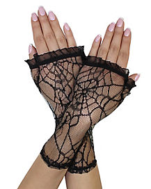 Ruffle Lace Fingerless Gloves