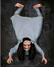 3.5 Ft Possessed Wall Hanging Girl Animatronics - Decorations
