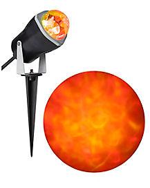 orange fire and ice led spot light