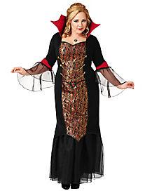Adult Gothic Vampiress Plus Size Costume