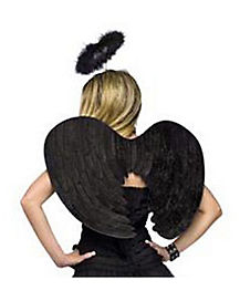 Velvet Fallen Angel Wings and Halo
