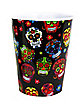 Black All Over Sugar Skull Plastic Shot Glass