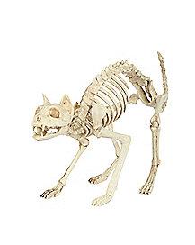 18 in skeleton cat decorations