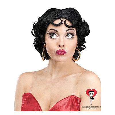 Vintage Hair Accessories: Combs, Headbands, Flowers, Scarf Betty Boop Wig - Betty Boop $16.99 AT vintagedancer.com