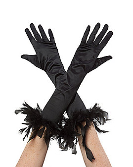 Black Feather Gloves