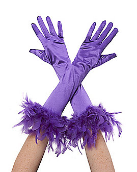 Purple Feather Gloves