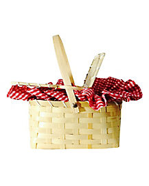 Red and White Gingham Basket