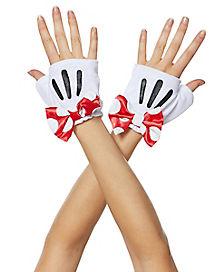 Red Minnie Gloves - Disney