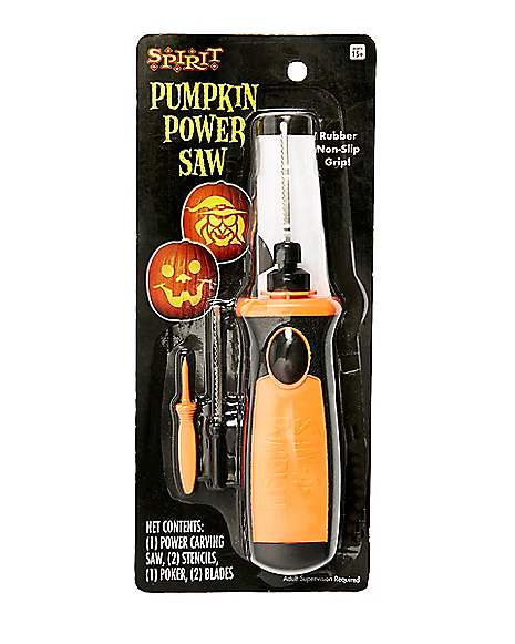 Pumpkin carving power saw spirithalloween