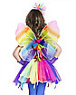 Kids Neon Rainbow Wings