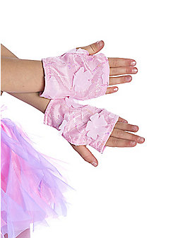 Purple Sequin Kids Gloves