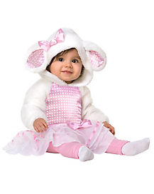 Baby Pink Little Lamb Costume